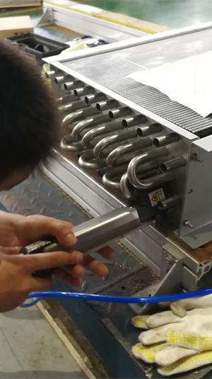 换热器U形管焊机焊接现场