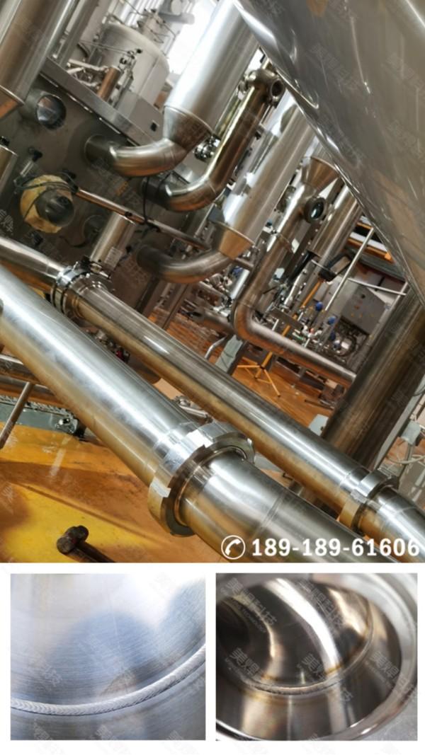 封闭式不锈钢管道焊接设备应用于广东省食品生产行业